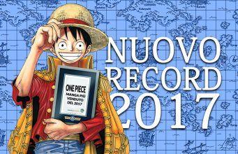 one piece manga più venduto 2017 Eiichiro Oda